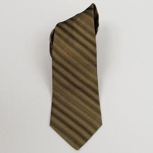 Bugatti Gold & Black Silk Tie